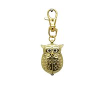 collar de cuarzo búho reloj al por mayor-10 colores Lindo Vintage Night owl Necklace Colgante de Cuarzo Reloj de Bolsillo Collar Owl Relojes hot good in stock