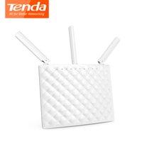 ingilizce firmware toptan satış-İngilizce Firmware Router routeTenda AC15 Kablosuz yönlendirici AC1900 2.4 GHz / 5 GHz USB3.0 802.11ac Akıllı Çift Bantlı Gigabit WiFi