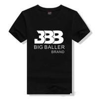 Wholesale Mens Gowns - Lonzo Ball Beatles T Shirts Tshirts For Men Shirt BBB Big Baller Short Sleeve Gown Star Tees Leisure Printing Clothing Cotton Tshirt Mens