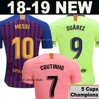 bb7bdee52 2018 2019 FC Barcelona MESSI Soccer Jersey WOMEN third away pink man Kids  kits 18 19 Suárez DEMBELE COUTINHO football shirt top thai quality