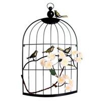 antike vogelkäfige großhandel-Große Eisen antike dekorative halbe Vogelkäfige klassische Eisen Vogelkäfig mit künstlichen Blumen für Hochzeit Home Decor handgemacht
