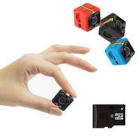mikro kamera dvr hareketi toptan satış-SQ11 HD küçük mini Kamera kam 1080 P video Sensörü Gece Görüş Kamera Mikro Kameralar DVR DV Hareket Kaydedici Kamera SQ 11 dvr