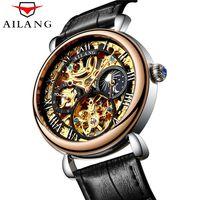 uhren wasserdicht stoßfest großhandel-Geschäfts-Mann-Uhr-Spitzenmarken-Luxus-stoßsichere wasserdichte Skeleton Uhr-Mann-mechanische automatische Armbanduhr