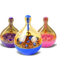 Wholesale automatic pet food - Pet Leaking Food Toys Tumbler Puzzle Automatic Plastic Dog Ball Feeders Cat With Small Bell High Quality 8 5nd V