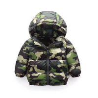 ingrosso camuffamento dei vestiti del bambino-Giubbotto in cotone per bambini 2018 nuovo cotone mimetico leggero cotone giacca bambino abbigliamento invernale