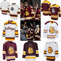 Wholesale viscose twill - 2018 new Karson Kuhlman Jared Thomas blank Minnesota Duluth Bulldogs Maroon Tackle Twill College Hockey Jersey