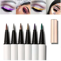 Wholesale colorful eye make up - Make up Colorful Glitter Liquid Eyeliner Pencil Waterproof eye shadow pen for Eye Beauty Comestics Party Makeup maquiagem