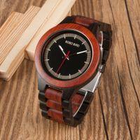 Wholesale Custom Logo Watches - BOBO BIRD Popular Mens Custom Logo Japan Movement Quartz Wood Watch for Men OEM in Cse