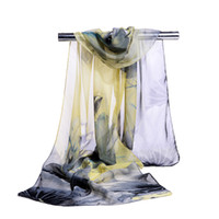 Wholesale multi coloured scarves for sale - Group buy new women chiffon silk scarf spring and autumn accessories summer soft thin sunscreen cape shawls girl gifts Mix Colours