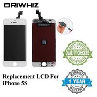 bestelle iphone lcd groihandel-ORIWHIZ Qualität für iPhone 5S LCD Touchscreen Digitizer Assembly Schwarz und Weiß Farbe Perfekte Verpackung Mix Order Support