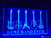 ingrosso best band ever-LA324b- Best Band Ever Guitar Weapon LED segno di luce al neon