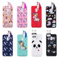 Wholesale case iphone panda pink - 3D Unicorn Soft Silicone Case For Iphone X 8 7 Plus 6 6s se 5 5s For Huawei P10 Lite P8 Cute Lovely Cartoon Panda Cover Fashion Cover Rubber