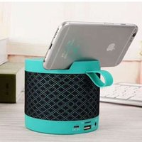 Wholesale capacity usb card resale online - J41 Fabric Speaker with Phone Stand High power Large capacity Network Cloth Speaker Creative Mobile Phone Stand Speaker