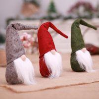 ingrosso vecchia barba-Decorazioni di Natale Foresta senza volto Babbo Natale barba lunga bambola di Natale regalo per bambini decorazione della finestra forniture