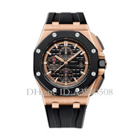 Wholesale quartz watches for sale for sale - 2018 Hot Sale AAA Luxury Watch For Men VK Chronography Quartz Movement ROYAL OAK Series Mens Watch Rubber Strap Mens Sport Watches