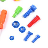 kit de ferramentas educacionais venda por atacado-Bebê Crianças Brinquedos Ferramentas 34 PCS Ferramentas de Reparação de Brinquedos de Plástico Fancy Dress Instrumentos de Brinquedo Kit Ferramentas de Aprendizagem Brinquedos Educativos