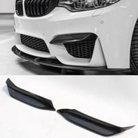 bmw lábio venda por atacado-P Estilo Fibra De Carbono Frente Top Lip Bumper Insere Fit Para BMW F80 M3 F82 F83 M4