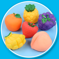 Wholesale toy bathtub resale online - 6pcs Baby Bath Toys Children Bathtub Toy Fruits Kids Bathroom Water Play Toy Rubber Squeeze Float Sounding Dabbling Toys