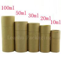 runde papier geschenk-boxen großhandel-Glastropfenzähler-Flaschen-Verpackenkasten-Kraftpapier-Verpackungs-Rohr-runde kleine Pappschachteln recyclebarer Brown-Geschenk-Rohr-Kasten