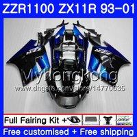 ninja r 1997 toptan satış-KAWASAKI NINJA ZX 11R ZX11R Için vücut 93 94 95 96 97 206HM. ZZR 1100 ZX11 R ZZR1100 ZX-11R 1993 1994 1995 1996 1997 Fuarı Fabrika mavi
