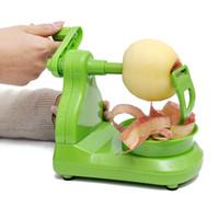 peladora de plástico al por mayor-Pelador de frutas manual de plástico herramienta de cocina casera creativa peladora de manzana verde peladora verde nuevo caliente