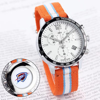 assistir fã venda por atacado-2018 New HOT men sport design do relógio para os fãs de equipe de Basquete todos funcionam o trabalho relógios de quartzo 1853 pulseira de fita de data Tag relógio de pulso