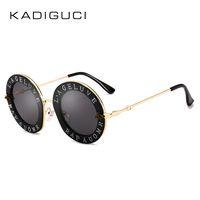 Wholesale tint sunglasses for sale - KADEGUCI New Fashion Retro Round Letters Sunglasses Transparent Frame Tint Lens Sunglasses Trending Circle Sun Glasses Female UV400 K0159