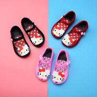 ingrosso pattini del gattino del fumetto-Bambini Kitty sandali in gelatina baby cartoon gatto scarpe bambini ragazze Melissa principessa scarpe carino spiaggia morbida Scarpe C3809