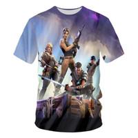 4xl unterhemden großhandel-Fortnite T-Shirts Neue Ankunft Männer Cool Print 3d Schädel Shirts Hombre Kurzarm Atmungsaktives T-Shirt Unterhemd Fitness Tops
