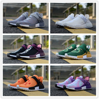 Wholesale pw black - High quality Human Race Pharrell Williams x Trail NERD Equality Orange Holi CREAM Casual Running Shoes Men Women PW HU Sports Sneakers 36-45