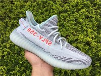 Wholesale Fluorescent Shoe Laces - 2017 New Originals 350 V2 Boost Blue Tint B37571 Kanye West Mens Womens Running Shoes BELUGA 2.0 Fluorescent Green Yebra Boosts Sneakers