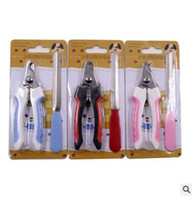 Wholesale dog nail filing for sale - Dog Grooming Pet Toe Nail Care Stainless Steel Dogs Cats Claw Nail Clippers Cutter Nail File Portable Scissors Trim Nails Pet Products