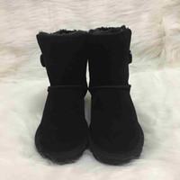 387aa07eddc2 Hot Australian Style Ugs Frauen Schnee Stiefel 100% Echtes Rindsleder  Stiefel Warme Winter Outdoor Frau schuhe Plus Größe US4-13