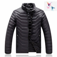 Wholesale puffer ski jackets - 2018. High Quality New Winter men's Down puffer jacket Casual Brand Hoodies Down Parkas Warm Ski Mens jacket 077