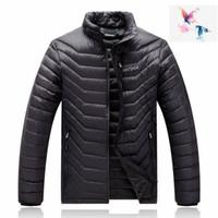 Wholesale Puffer Ski Jackets - 2018. High Quality New Winter men's Down puffer jacket Casual Brand Hoodies Down Parkas Warm Ski Mens jacket 077