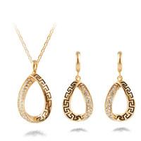 ingrosso collane africane per le donne-Set di gioielli in cristallo vintage africani per le donne