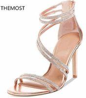 босоножки в стиле римского стиля оптовых-2018 на высоком каблуке сандалии римский стиль воды дрель дизайн зрелые сексуальные летние сандалии леди мода партии shies