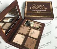 contours de la palette achat en gros de-EPacket New Face Makeup Contour Cacao Ciselé à la perfection Contour du visage mettant en évidence 4 couleurs Palette de poudre!