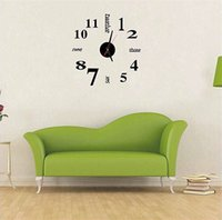 Wholesale wholesale antique style watches online - DIY D Wall Clock English Number Personality Interest Watches Eco Friendly Acrylic Black Mini Modern Art Home Decor jf bb