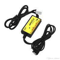 ssd kartları toptan satış-Araba Ses Arabirimi MP3 USB Veri Kablosu 8 P Bağlayın CD Değiştirici SSD / SHSD / MMC kart Ve USB sopa Oynamak için DC 12 V Honda Toyota Mazda Skoda + B