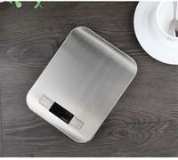 gadget más inteligente al por mayor-Escala de cocina de acero inoxidable de múltiples funciones de alta precisión plana inteligente escalas electrónicas digitales gadget creativo herramientas de medición 19zd jj