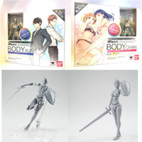 Wholesale Chan Wholesale - 2nd Generation Anime S.H.Figuarts SHF BODY CHAN & KUN DX Set Gray Color Ver PVC Action Figure Resin Collection Model Toy Doll Gifts Cosplay