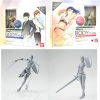 Wholesale Action Figure Anime Resin - 2nd Generation Anime S.H.Figuarts SHF BODY CHAN & KUN DX Set Gray Color Ver PVC Action Figure Resin Collection Model Toy Doll Gifts Cosplay