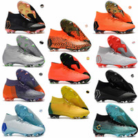 Wholesale world cup soccer shoes - 2018 World Cup Mens Mercurial Superfly VI 360 Elite FG Football Boots Neymar JR ACC Outdoor Soccer Shoes Cristiano Ronaldo Soccer Cleats
