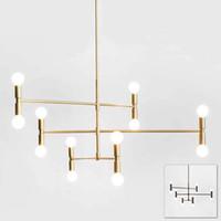 Wholesale linear chandelier - Modern linear line ceiling chandelier light rotatable adjustable bronze gold hanging light lamp for dinning living room foyer