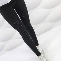 гетры с черным лодыжком оптовых-Fashion Style Summer Sexy Leggings Women Torn Ripped Hole Ankle Length Pant Leggings New  Women Clothing Black S-XXL 6Q1906