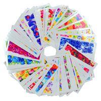 tırnak baskı etiket toptan satış-WUF 50 Levhalar Moda Sıcak Tasarımlar DIY Çıkartmalar Çivi Sanat Çivi Sanat Su Transfer Baskı Çıkartmalar