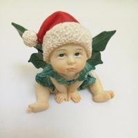 moldes de fadas 3d venda por atacado-Chapéu 3D elf bebê fada de Natal moldes de Silicone sabão molde de silicone moldes de sabão gel de sílica die pedra Aroma moldes vela molde