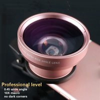 Wholesale 37mm Wide - HD 37MM 0.45x Super Wide Angle Lens with 12.5x Super Macro Lens for Smartphone Camera lens Kit Universal