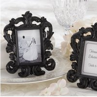 Wholesale frame favors resale online - Wedding Dress Resin Photo Frame Black And White Baroque Card Holder Party Favors Gift Victorian Style qc Ww